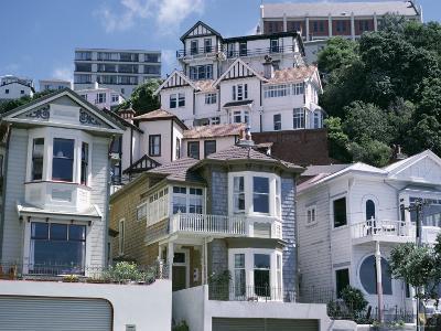 Houses, Wellington, North Island, New Zealand-Adam Woolfitt-Photographic Print