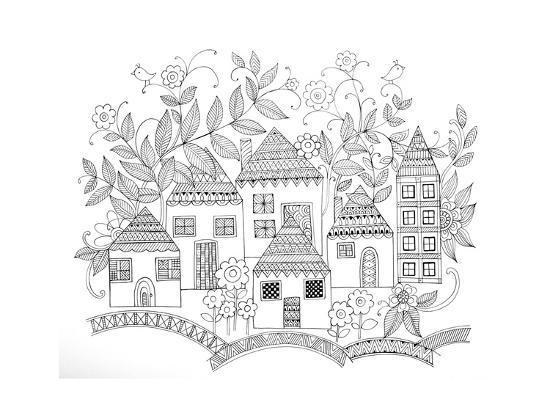 Houses-Neeti Goswami-Art Print