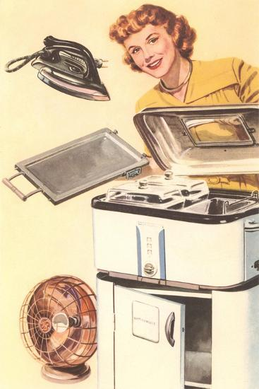 Housewife and Appliances--Art Print