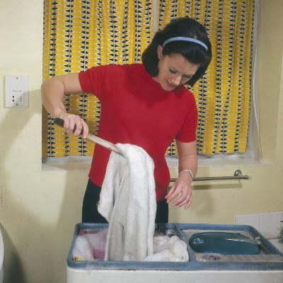 Housewife Using Twin Tub--Photographic Print