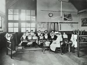 Housewifery Lesson, Childeric Road School, Deptford, London, 1908