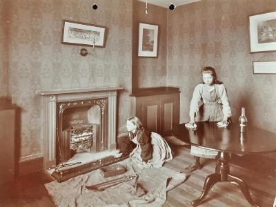 Housewifery Lesson, Morden Terrace School, Greenwich, London, 1908--Photographic Print