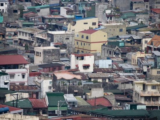 Housing in the Divisoria Distict, Manila, National Capital Region,  Philippines Photographic Print by Greg Elms | Art com