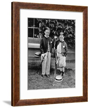 Housman as a Lad--Framed Giclee Print