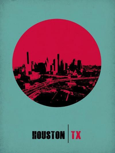 Houston Circle Poster 2-NaxArt-Art Print