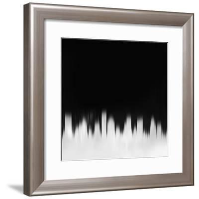 Houston City Skyline - White-NaxArt-Framed Art Print