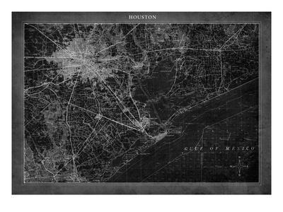 Houston Map A-GI ArtLab-Premium Giclee Print