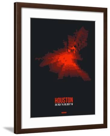 Houston Radiant Map 2-NaxArt-Framed Art Print