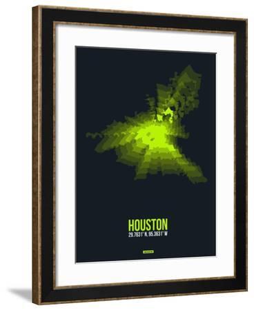 Houston Radiant Map 3-NaxArt-Framed Art Print