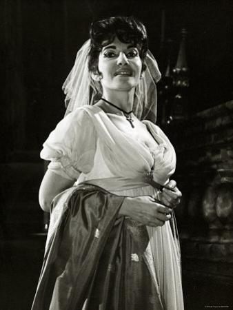 Maria Callas as Floria in Tosca, the Most Renowned Opera Singer of the 1950s