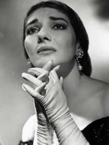 Maria Callas as Floria in Tosca, the Most Renowned Opera Singer of the 1950s by Houston Rogers