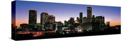 Houston Skyline at Night--Stretched Canvas Print