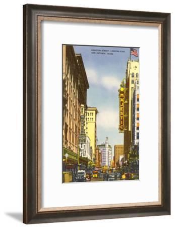 Houston Street, San Antonio, Texas--Framed Art Print