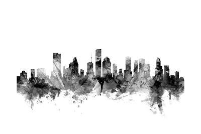 Houston Texas Skyline-Michael Tompsett-Art Print
