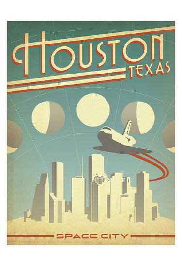 Houston, Texas: Space City-Anderson Design Group-Art Print
