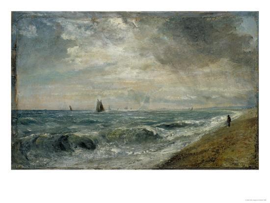 Hove Beach, East Sussex-John Constable-Giclee Print