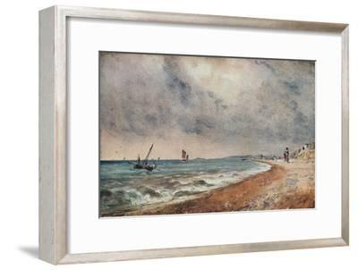 'Hove Beach, with Fishing Boats', c1824-John Constable-Framed Giclee Print