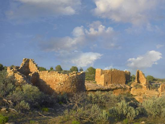 Hovenweep House and Hovenweep Castle, Hovenweep National Monument, Utah-Tim Fitzharris-Photographic Print