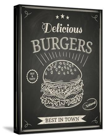 Burger House Poster on Chalkboard