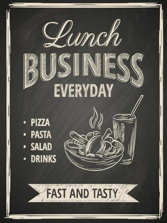 Business Lunch Poster on Blackboard