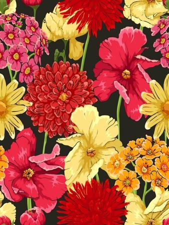 Floral Wallpaper in Watercolor Style