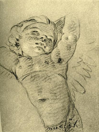 'Hovering Cupid', mid 18th century, (1928)-Giovanni Battista Tiepolo-Giclee Print