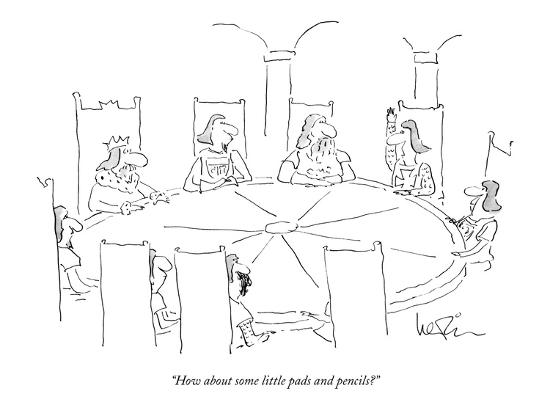 """""""How about some little pads and pencils?"""" - New Yorker Cartoon-Arnie Levin-Premium Giclee Print"""