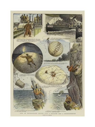 How an Enterprising Editor Lost a Balloon and a Correspondent-William Ralston-Giclee Print