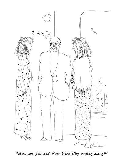 """How are you and New York City getting along?"" - New Yorker Cartoon-Richard Cline-Premium Giclee Print"
