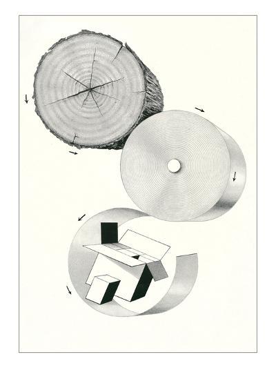 How Cardboard Is Made--Art Print