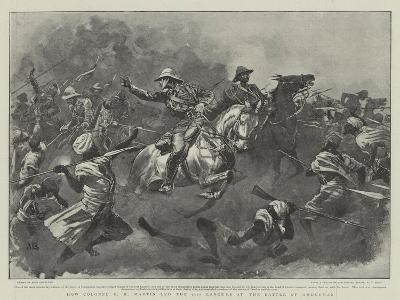 How Colonel R H Martin Led the 21st Lancers at the Battle of Omdurman-John Charlton-Giclee Print