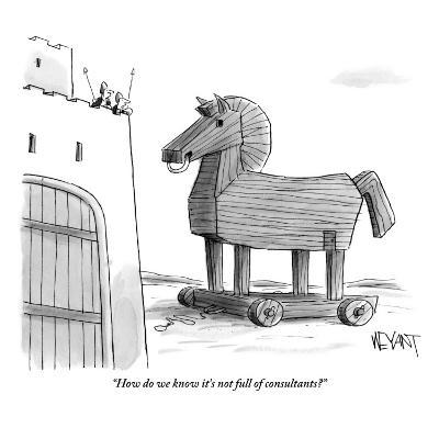 """""""How do we know it's not full of consultants?"""" - New Yorker Cartoon-Christopher Weyant-Premium Giclee Print"""