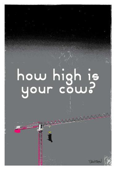 How High Is Your Cow? (Grey)-Pascal Normand-Art Print