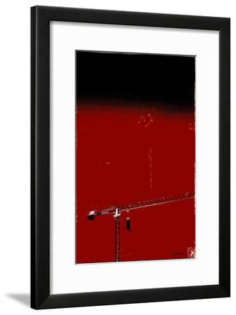 How High Is Your Cow? (Red)-Pascal Normand-Framed Art Print