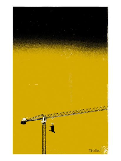 How High Is Your Cow? Yellow-Pascal Normand-Art Print