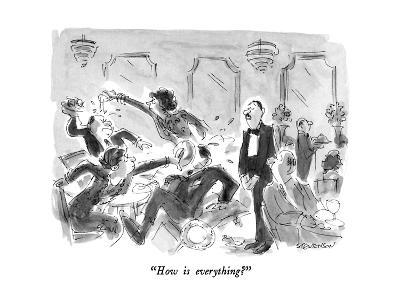 """How is everything?"" - New Yorker Cartoon-James Stevenson-Premium Giclee Print"