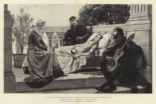How Lisa Loved the King-Edmund Blair Leighton-Giclee Print