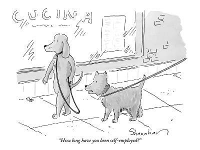 """""""How long have you been self-employed?"""" - New Yorker Cartoon-Danny Shanahan-Premium Giclee Print"""