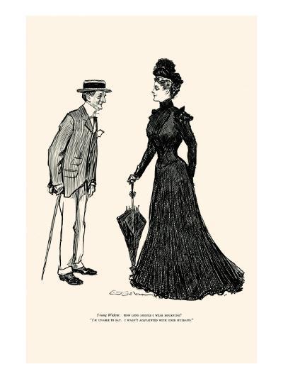 How Long Should I Wear Mourning-Charles Dana Gibson-Art Print