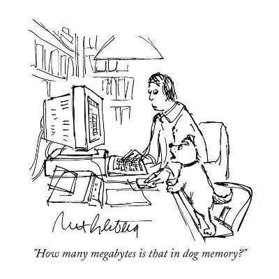 """How many megabytes is that in dog memory?""  - Cartoon-Mort Gerberg-Premium Giclee Print"