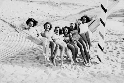 How Many Women Fit in a Hammock? C.1940--Photographic Print