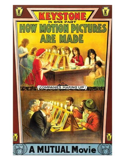 How Motion Pictures Are Made - 1914--Giclee Print