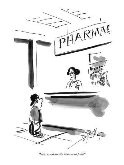 """How much are the home-run pills?"" - New Yorker Cartoon-Donald Reilly-Premium Giclee Print"