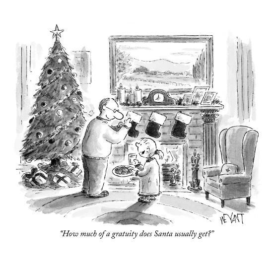 """""""How much of a gratuity does Santa usually get?"""" - New Yorker Cartoon-Christopher Weyant-Premium Giclee Print"""