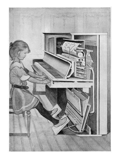 How Pianola Works 1912--Giclee Print