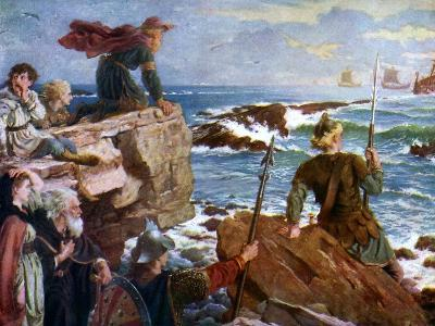 How the Danes Came Up the Channel a Thousand Years Ago, 1925-Herbert A Bone-Giclee Print