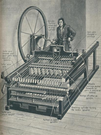 'How The Early Spinning Jenny Worked', c1934-Unknown-Giclee Print