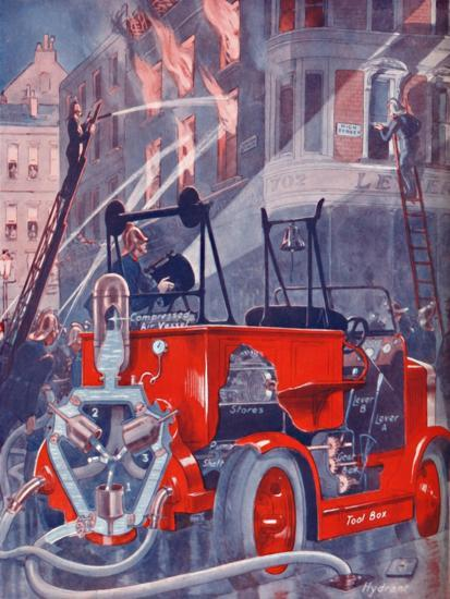 'How The Fire Engine Puts Out The Fire', 1935-Unknown-Giclee Print