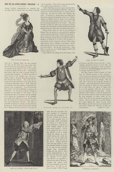 How the Old Actors Dressed Shakspere-James Godwin-Giclee Print