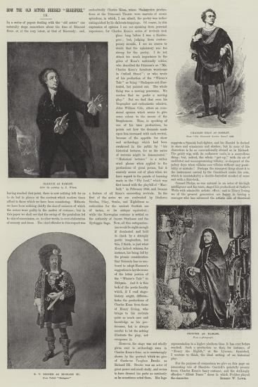 How the Old Actors Dressed Shakspere--Giclee Print